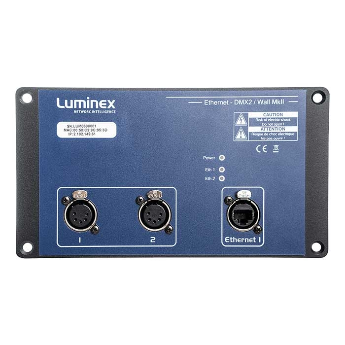 Ethernet DMX2 Wall MKII with PoE input