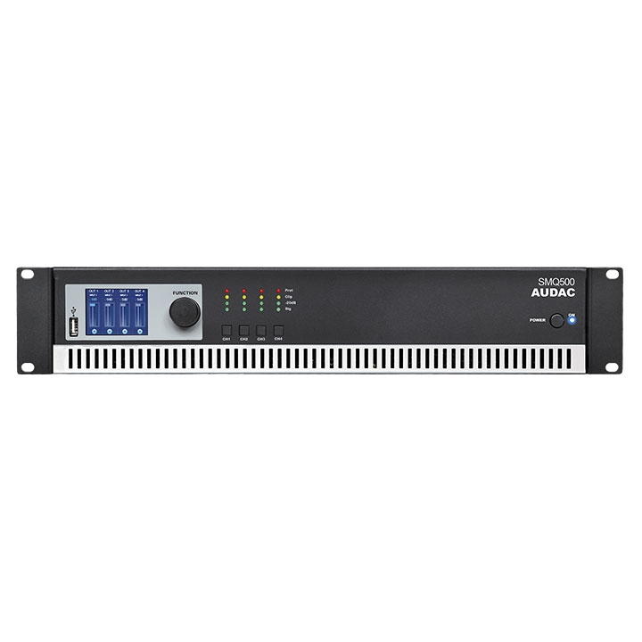 SMQ500 WaveDynamics™ quad-channel power amplifier 4 x 500W