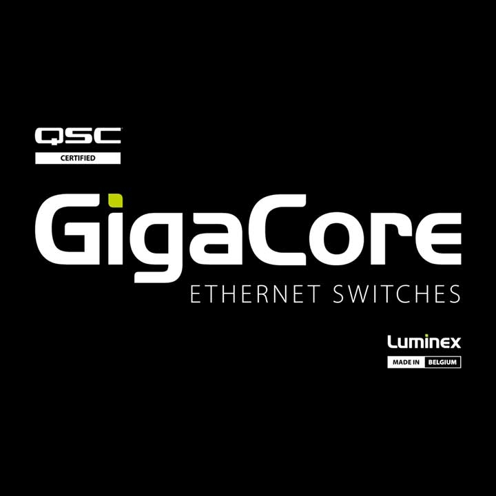 LUMINEX GigaCore Certified as Q-SYS Network Switch
