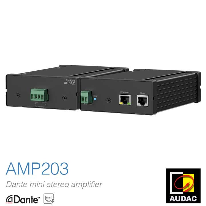 Introducing the AMP203 Dante Mini Stereo Amplifier